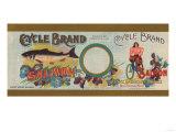 Cycle Brand Salmon Label - Bellingham, WA Prints by  Lantern Press