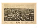 Carthage, New York - Panoramic Map Prints by  Lantern Press