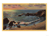 Laguna Beach, California - View of Wood's Cove Poster