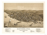 Bayfield, Wisconsin - Panoramic Map Prints