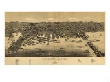 Duluth, Minnesota - Panoramic Map Prints