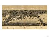 Duluth, Minnesota - Panoramic Map Prints