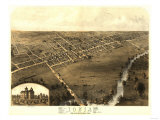 Ionia, Michigan - Panoramic Map Prints by  Lantern Press