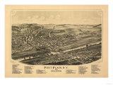 Fort Plain, New York - Panoramic Map Prints by  Lantern Press