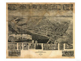 Chestertown, Maryland - Panoramic Map Prints by  Lantern Press