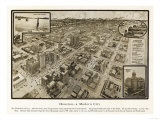 Houston, Texas - Panoramic Map Prints by  Lantern Press