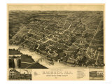 Gadsden, Alabama - Panoramic Map Prints