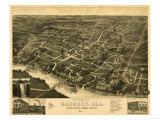 Gadsden, Alabama - Panoramic Map Prints by  Lantern Press