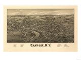 Canton, New York - Panoramic Map Prints by  Lantern Press