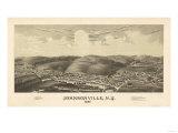 Johnsonville, New York - Panoramic Map Prints by  Lantern Press