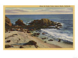 Laguna Beach, California - Aerial of the Rocky Coast Prints
