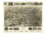 Bristol, Tennessee - Panoramic Map Prints