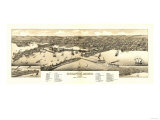 Duluth, Minnesota - Panoramic Map Prints by  Lantern Press