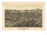Frankfort, New York - Panoramic Map Prints by  Lantern Press