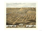 Decorah, Iowa - Panoramic Map Prints by  Lantern Press