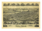 Dover, Ohio - Panoramic Map Prints