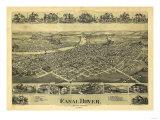 Dover, Ohio - Panoramic Map Prints by  Lantern Press