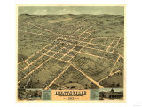 Huntsville, Alabama - Panoramic Map Prints