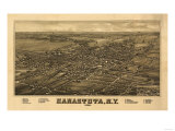 Canastota, New York - Panoramic Map Prints by  Lantern Press
