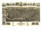 Jamestown, New York - Panoramic Map Prints by  Lantern Press