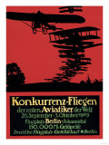 Berlin, Germany - Konkurrenz-Fliegen Airfield Promotional Poster Prints by  Lantern Press