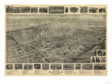 Bluefield, West Virginia - Panoramic Map Prints