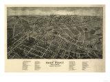 High Point, North Carolina - Panoramic Map Prints