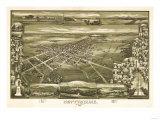 Gettysburg, Pennsylvania - Panoramic Map Prints by  Lantern Press