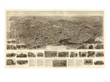 Freeport, New York - Panoramic Map Prints by  Lantern Press