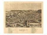 Hardwick, Vermont - Panoramic Map Prints