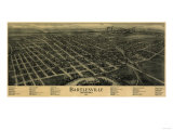 Bartlesville, Oklahoma - Panoramic Map Prints by  Lantern Press