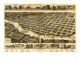 Columbus, Georgia - Panoramic Map Prints