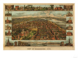 Harrisburg, Pennsylvania - Panoramic Map Art