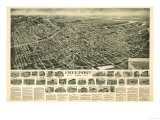 Freeport, New York - Panoramic Map Art