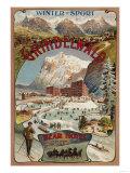 Grindelwald, Switzerland - View of the Bear Hotel Promotional Poster Sztuka autor Lantern Press
