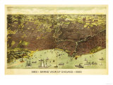 Chicago, Illinois - Panoramic Map No. 1 Art