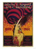 Barcelona, Spain - Soccer Promo Poster Poster von  Lantern Press