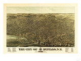 Buffalo, New York - Panoramic Map Prints