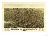 Buffalo, New York - Panoramic Map Prints by  Lantern Press
