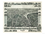 Exeter, New Hampshire - Panoramic Map Prints