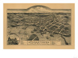 Edgartown, Massachusetts - Panoramic Map Prints