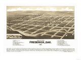 Frederick, South Dakota - Panoramic Map Prints