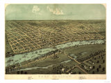 East Saginaw, Michigan - Panoramic Map Prints by  Lantern Press