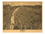 Elgin, Illinois - Panoramic Map Prints by  Lantern Press