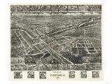 Emporia, Virginia - Panoramic Map Prints