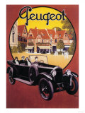 France - Peugeot Automobile Promotional Poster Affiches