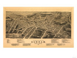Durham, North Carolina - Panoramic Map Prints by  Lantern Press