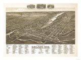 Beloit, Wisconsin - Panoramic Map Art