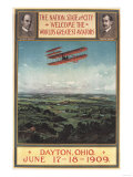 Dayton, Ohio - Wright Brothers Plane, 1st Flight Promotional Poster Art