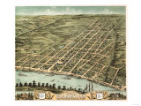 Clarksville, Tennessee - Panoramic Map Art by  Lantern Press
